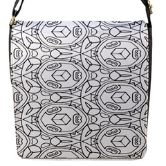 Pattern Silly Coloring Page Cool Flap Messenger Bag (s)