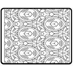 Pattern Silly Coloring Page Cool Double Sided Fleece Blanket (medium)