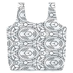 Pattern Silly Coloring Page Cool Full Print Recycle Bags (l)