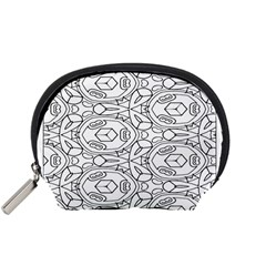 Pattern Silly Coloring Page Cool Accessory Pouches (small)
