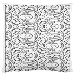 Pattern Silly Coloring Page Cool Large Flano Cushion Case (one Side)