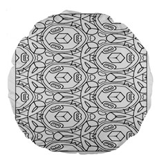 Pattern Silly Coloring Page Cool Large 18  Premium Flano Round Cushions