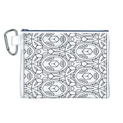 Pattern Silly Coloring Page Cool Canvas Cosmetic Bag (l)