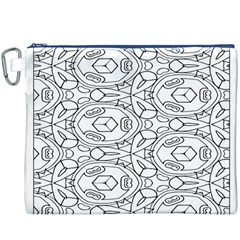 Pattern Silly Coloring Page Cool Canvas Cosmetic Bag (xxxl)