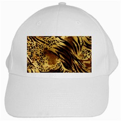 Pattern Tiger Stripes Print Animal White Cap