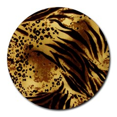 Pattern Tiger Stripes Print Animal Round Mousepads
