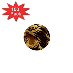 Pattern Tiger Stripes Print Animal 1  Mini Magnets (100 Pack)