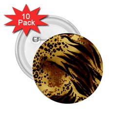 Pattern Tiger Stripes Print Animal 2.25  Buttons (10 pack)