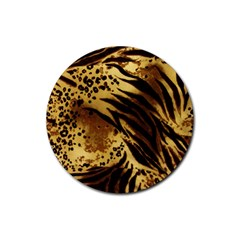 Pattern Tiger Stripes Print Animal Rubber Coaster (round)