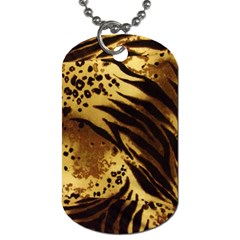 Pattern Tiger Stripes Print Animal Dog Tag (one Side)