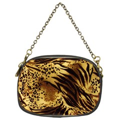 Pattern Tiger Stripes Print Animal Chain Purses (two Sides)