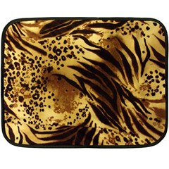 Pattern Tiger Stripes Print Animal Fleece Blanket (mini)