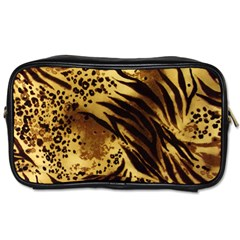 Pattern Tiger Stripes Print Animal Toiletries Bags 2 Side