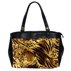 Pattern Tiger Stripes Print Animal Office Handbags (2 Sides)
