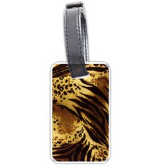 Pattern Tiger Stripes Print Animal Luggage Tags (Two Sides)