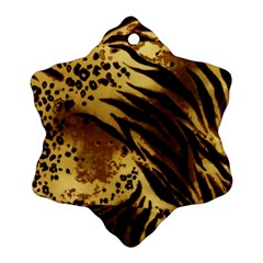 Pattern Tiger Stripes Print Animal Snowflake Ornament (two Sides)