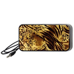 Pattern Tiger Stripes Print Animal Portable Speaker (black)