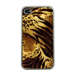 Pattern Tiger Stripes Print Animal Apple Iphone 4 Case (clear)