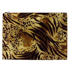 Pattern Tiger Stripes Print Animal Cosmetic Bag (xxl)