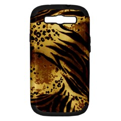 Pattern Tiger Stripes Print Animal Samsung Galaxy S Iii Hardshell Case (pc+silicone)