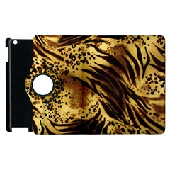Pattern Tiger Stripes Print Animal Apple Ipad 3/4 Flip 360 Case