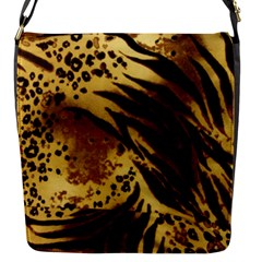 Pattern Tiger Stripes Print Animal Flap Messenger Bag (s)