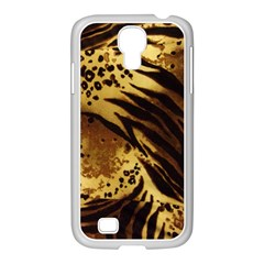 Pattern Tiger Stripes Print Animal Samsung Galaxy S4 I9500/ I9505 Case (white)