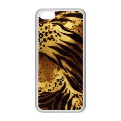 Pattern Tiger Stripes Print Animal Apple Iphone 5c Seamless Case (white)