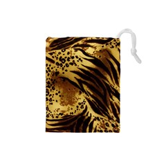Pattern Tiger Stripes Print Animal Drawstring Pouches (small)