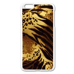 Pattern Tiger Stripes Print Animal Apple Iphone 6 Plus/6s Plus Enamel White Case