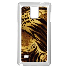 Pattern Tiger Stripes Print Animal Samsung Galaxy Note 4 Case (white)