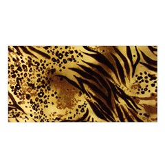 Pattern Tiger Stripes Print Animal Satin Shawl