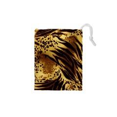 Pattern Tiger Stripes Print Animal Drawstring Pouches (xs)
