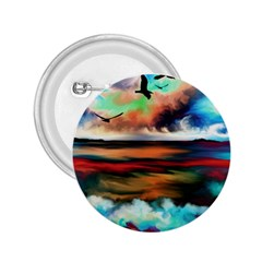 Ocean Waves Birds Colorful Sea 2 25  Buttons