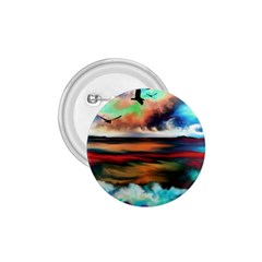 Ocean Waves Birds Colorful Sea 1.75  Buttons
