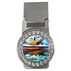 Ocean Waves Birds Colorful Sea Money Clips (cz)