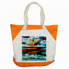 Ocean Waves Birds Colorful Sea Accent Tote Bag