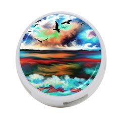 Ocean Waves Birds Colorful Sea 4 Port Usb Hub (two Sides)