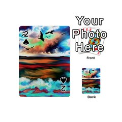 Ocean Waves Birds Colorful Sea Playing Cards 54 (mini)