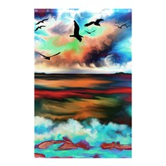 Ocean Waves Birds Colorful Sea Shower Curtain 48  X 72  (small)