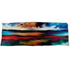 Ocean Waves Birds Colorful Sea Body Pillow Case Dakimakura (two Sides)