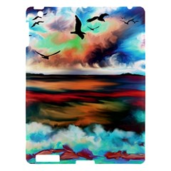 Ocean Waves Birds Colorful Sea Apple Ipad 3/4 Hardshell Case