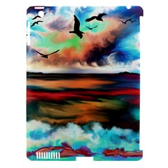 Ocean Waves Birds Colorful Sea Apple Ipad 3/4 Hardshell Case (compatible With Smart Cover)