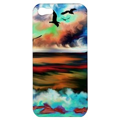 Ocean Waves Birds Colorful Sea Apple Iphone 5 Hardshell Case
