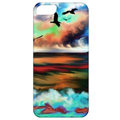 Ocean Waves Birds Colorful Sea Apple Iphone 5 Classic Hardshell Case