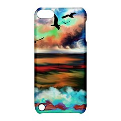 Ocean Waves Birds Colorful Sea Apple Ipod Touch 5 Hardshell Case With Stand
