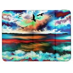 Ocean Waves Birds Colorful Sea Samsung Galaxy Tab 7  P1000 Flip Case