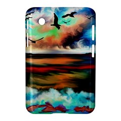 Ocean Waves Birds Colorful Sea Samsung Galaxy Tab 2 (7 ) P3100 Hardshell Case