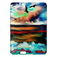 Ocean Waves Birds Colorful Sea Kindle Fire Hdx Hardshell Case