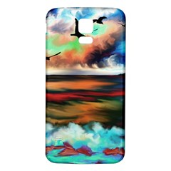 Ocean Waves Birds Colorful Sea Samsung Galaxy S5 Back Case (white)